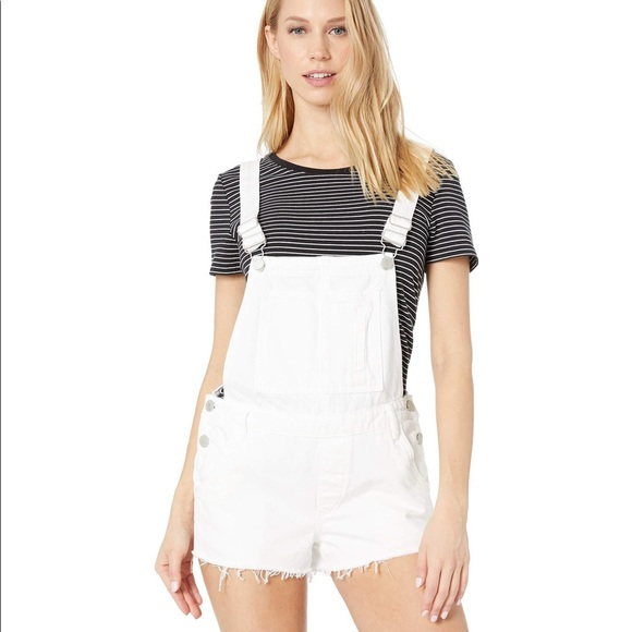BlankNYC distressed short overalls white size 28